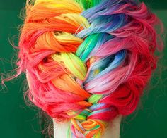 rainbow died hair.