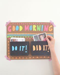 make mornings better with this simple chart using photographs to motivate and create ownership of their day | art bar