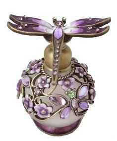 Purple Dragonfly Perfume Bottle.
