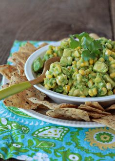 Sweet Corn Guacamole (via @Kathy Chan Novak)
