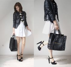 Black leather (by Anna  K.) http://lookbook.nu/look/3891824-Black-leather
