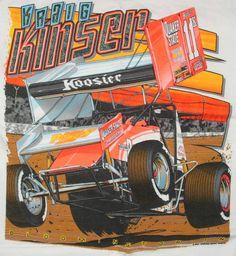 sprint car, race car, vintag tshirt, kraig kinser, kinser tshirt, car race