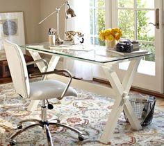 decor, potterybarn, potteri barn, antiqu white, wood desk