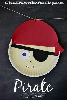 Pirate {Kid Craft} paper plate