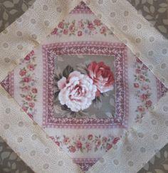 Civil War Quilt – Block 37 – Confederate Rose