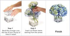 DIY flower arrangements that will stay in place