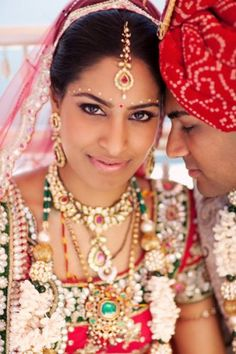 An Indian style bride and groom #indian #wedding #bollywood