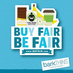 October is Fair Trade Month! Learn more about #FairTrade and how you can #BeFair here: http://BeFair.org  @FairTradeUSA #barkTHINS