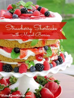 Strawberry Shortcake with Mixed Berries