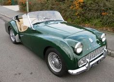 Proper 'mans' car - puts hair on your chest, a flat cap on your head and a pipe in your mouth. The Triumph TR3A