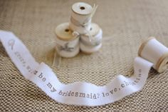 Ask your friends to be your bridesmaids with this cute idea!   Ruffled