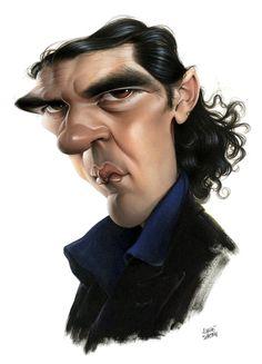 Antonio Banderas  Artist: Achille Superbi  website: http://www.achillesuperbi.it/
