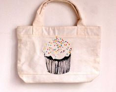 the cake--canvas tote bag/Tote bag/Diaper bag/Shopping bag/Market bag/Document bag/Carryall bag/women bag/women bag