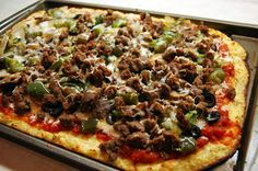 Pizza with a cauliflower crust --