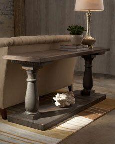 DIY sofa table columns + boards <3 LoVe LoVe LoVe
