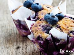 Gluten-Free Blueberry Muffins - DrAxe.com  http://www.draxe.com #glutenfree #recipe #homemade #breakfast