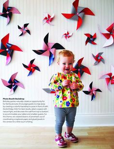 Pinwheel Photobooth Backdrop from the Stylish Kids' Parties book by Kelly Lyden #stylishkidsparties