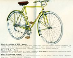 Legnano Mod.50 Gran Sport illustrated in a vintage catalog or brochure.