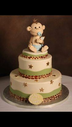 Monkey Fondant cake topper