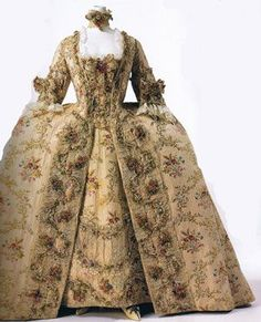 robes, costum, fashion, floral patterns, ball gowns, 18th centuri, bridesmaid dresses, rococo, victorian dresses