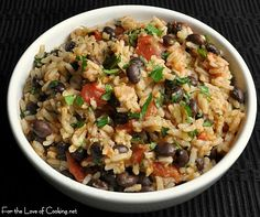 An excellent Rice and Beans Recipe Round-up. More than 2 dozen dishes that work as a side or a stand-alone meal.