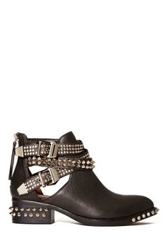 Jeffrey Campbell Everly Cutout Boot - Black/Silver
