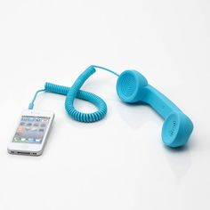 Retro Blue Handset for iPhone.