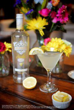 SMIRNOFF SORBET™ Light Lemon & Lemonade Drink Recipe: 1.5 oz SMIRNOFF SORBET™ Light Lemon, 2.5 oz lemonade.  Combine ingredients in an ice-filled shaker, shake and strain into a chilled martini glass.  Garnish with a lemon wedge. #Smirnoff #vodka #drinkrecipe #lemon #spring