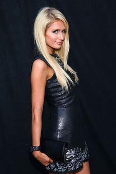Paris Hilton photographed backstage at the 2012 MTV Movie Awards in Los Angeles.