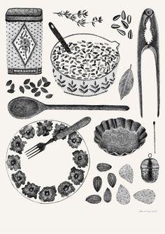 draw, der vorst, vans, van der, kitchen art, kitchen design, modern kitchen, liek van, illustr