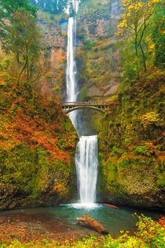 Multnomah Falls - Autumn - Columbia River Gorge, Oregon