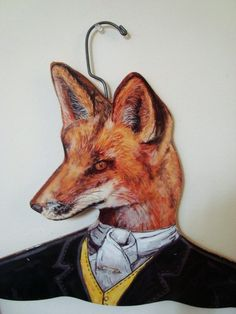 Jerome - Vintage Wooden FOX Clothes Hanger from ajpaul on etsy.