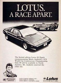 Lotus Esprit Mario Andretti 1978.