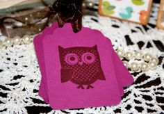 Owl Gift Tags  Baby Shower and Birthday Party by Booksonblocks, $3.95