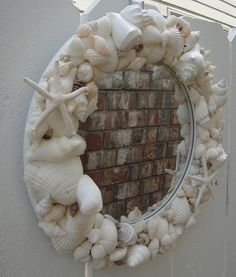 Sea Shell Mirror by donnahubbard on Etsy, $80.00