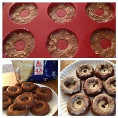 Cinnamon Oat Protein Donuts with Walnuts! :) - The Kitchen Table - The Eat-Clean Diet®