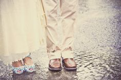A rainy wedding day.