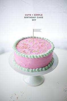 Cute and Simple Birthday Cake Tutorial