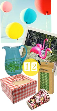 Lark party pack includes pink flamingos and giant balloons. Part of the A Month of colour givaway on the blog in January