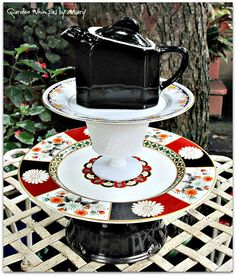 Shogun Teapot Garden Totem / Centerpiece / by GardenWhimsiesByMary, $48.00