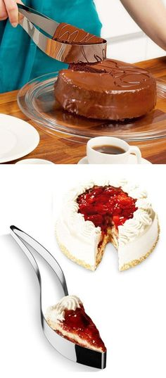 The Perfect Cake Server & Slicer in One ♡ #love #want #genius
