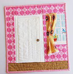 the doors, mini quilts, quiet books, quiet time, hous, ayumi quilt, mug rugs, blog, curtain
