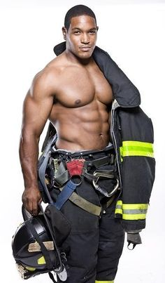 smoking hot firefighter.