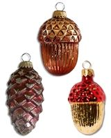 woodland ornament, vintag christma, christma 2013, merri christma, glass ornaments, christma ornament