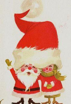 vintage Mr. & Mrs. Santa Claus