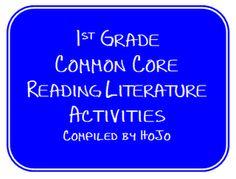 First Grade Common Core Literature Activities freebie