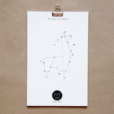 2014 Wall Calendar - Constellation Animals