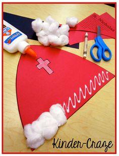 FREE craftivity to create a miter hat like St. Nicholas had