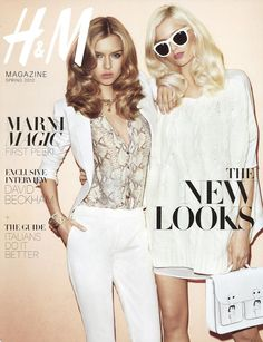 Abbey Lee Kershaw & Josephine Skriver by Terry Richardson for H&M Magazine Spring 2012