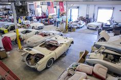 After decaying in various New York City garages over the years, the Peter Max Corvettes — a collection of every Corvette from 1953 to 1989 — are finally being restored.